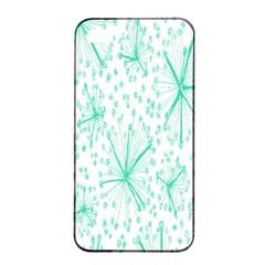 Pattern Floralgreen Apple Iphone 4/4s Seamless Case (black) by Nexatart