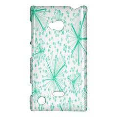 Pattern Floralgreen Nokia Lumia 720 by Nexatart