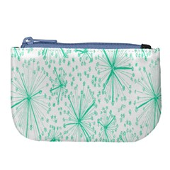 Pattern Floralgreen Large Coin Purse by Nexatart
