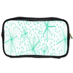 Pattern Floralgreen Toiletries Bags by Nexatart
