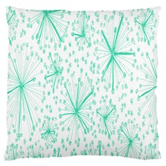 Pattern Floralgreen Large Cushion Case (two Sides) by Nexatart