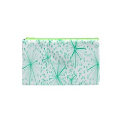 Pattern Floralgreen Cosmetic Bag (xs) by Nexatart