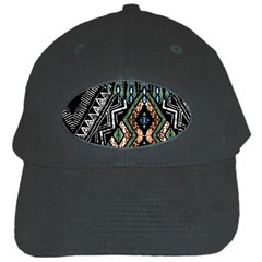 Ethnic Art Pattern Black Cap by Nexatart