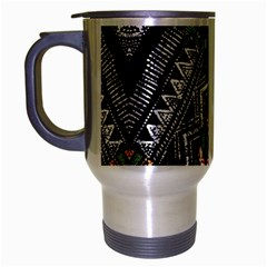 Ethnic Art Pattern Travel Mug (silver Gray) by Nexatart