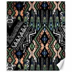 Ethnic Art Pattern Canvas 8  X 10  by Nexatart