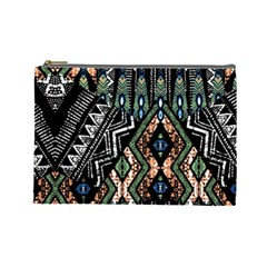 Ethnic Art Pattern Cosmetic Bag (large)  by Nexatart