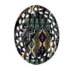 Ethnic Art Pattern Ornament (oval Filigree) by Nexatart