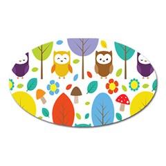 Cute Owl Oval Magnet