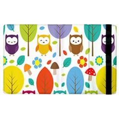 Cute Owl Apple Ipad 2 Flip Case by Nexatart
