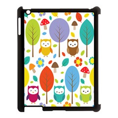 Cute Owl Apple Ipad 3/4 Case (black) by Nexatart