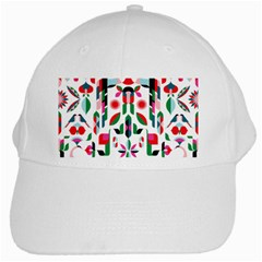 Abstract Peacock White Cap