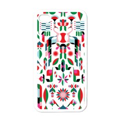 Abstract Peacock Apple Iphone 4 Case (white) by Nexatart