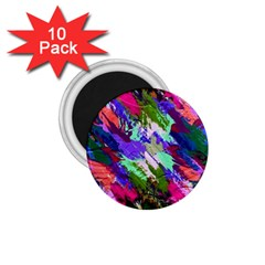 Tropical Jungle Print And Color Trends 1 75  Magnets (10 Pack)  by Nexatart