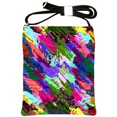 Tropical Jungle Print And Color Trends Shoulder Sling Bags by Nexatart