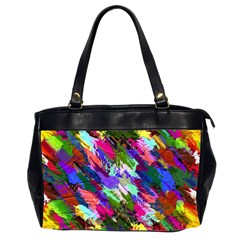 Tropical Jungle Print And Color Trends Office Handbags (2 Sides)  by Nexatart