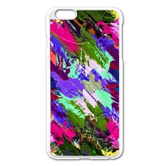 Tropical Jungle Print And Color Trends Apple Iphone 6 Plus/6s Plus Enamel White Case by Nexatart