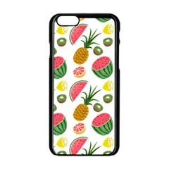 Fruits Pattern Apple Iphone 6/6s Black Enamel Case by Nexatart