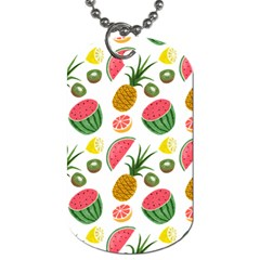 Fruits Pattern Dog Tag (one Side) by Nexatart
