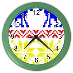 Jacquard With Elks Color Wall Clocks by Nexatart