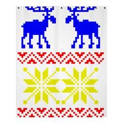 Jacquard With Elks Shower Curtain 60  X 72  (medium)  by Nexatart