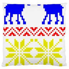 Jacquard With Elks Large Cushion Case (two Sides) by Nexatart