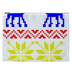 Jacquard With Elks Cosmetic Bag (xxl)  by Nexatart