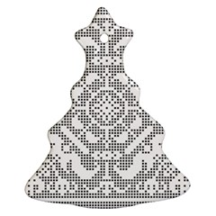 Mosaic Pattern Cyberscooty Museum Pattern Christmas Tree Ornament (Two Sides)