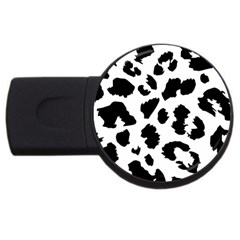 Leopard Skin Usb Flash Drive Round (2 Gb) by Nexatart