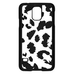 Leopard Skin Samsung Galaxy S5 Case (black) by Nexatart