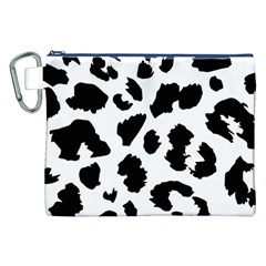 Leopard Skin Canvas Cosmetic Bag (xxl) by Nexatart