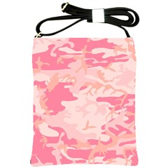 Pink Camo Print Shoulder Sling Bags by Nexatart
