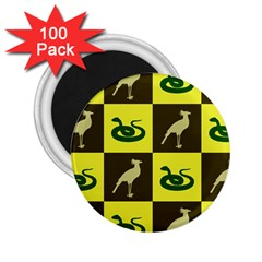 Bird And Snake Pattern 2 25  Magnets (100 Pack)  by Nexatart