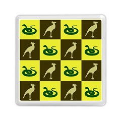 Bird And Snake Pattern Memory Card Reader (square)  by Nexatart