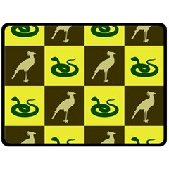 Bird And Snake Pattern Double Sided Fleece Blanket (large)  by Nexatart