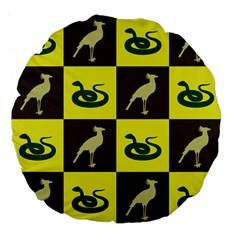 Bird And Snake Pattern Large 18  Premium Flano Round Cushions by Nexatart