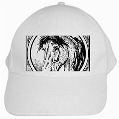 Framed Horse White Cap by Nexatart