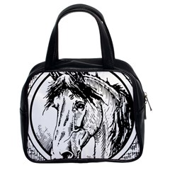 Framed Horse Classic Handbags (2 Sides) by Nexatart