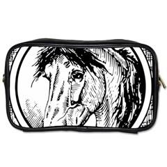 Framed Horse Toiletries Bags by Nexatart