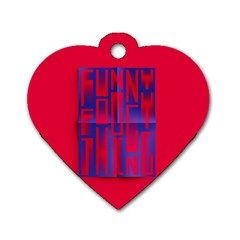 Funny Foggy Thing Dog Tag Heart (Two Sides)