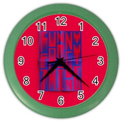 Funny Foggy Thing Color Wall Clocks