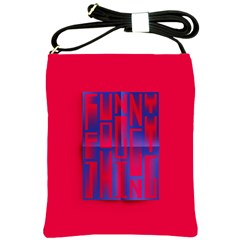 Funny Foggy Thing Shoulder Sling Bags by Nexatart