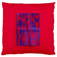 Funny Foggy Thing Large Flano Cushion Case (two Sides) by Nexatart