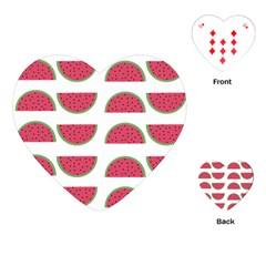 Watermelon Pattern Playing Cards (heart)  by Nexatart