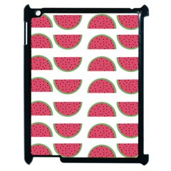 Watermelon Pattern Apple Ipad 2 Case (black) by Nexatart