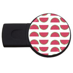 Watermelon Pattern Usb Flash Drive Round (2 Gb) by Nexatart