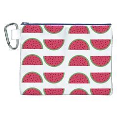 Watermelon Pattern Canvas Cosmetic Bag (xxl) by Nexatart
