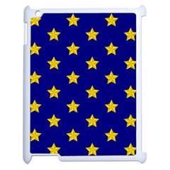 Star Pattern Apple Ipad 2 Case (white) by Nexatart