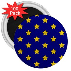 Star Pattern 3  Magnets (100 Pack) by Nexatart