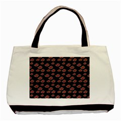 Cloud Red Brown Basic Tote Bag (two Sides) by Mariart