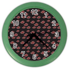 Cloud Red Brown Color Wall Clocks by Mariart